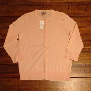 Pale Pink 3/4 Sleeve Lightweight LOFT Cardigan